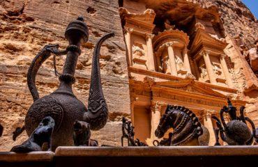 Bancarelle turistiche al Tesoro di Petra